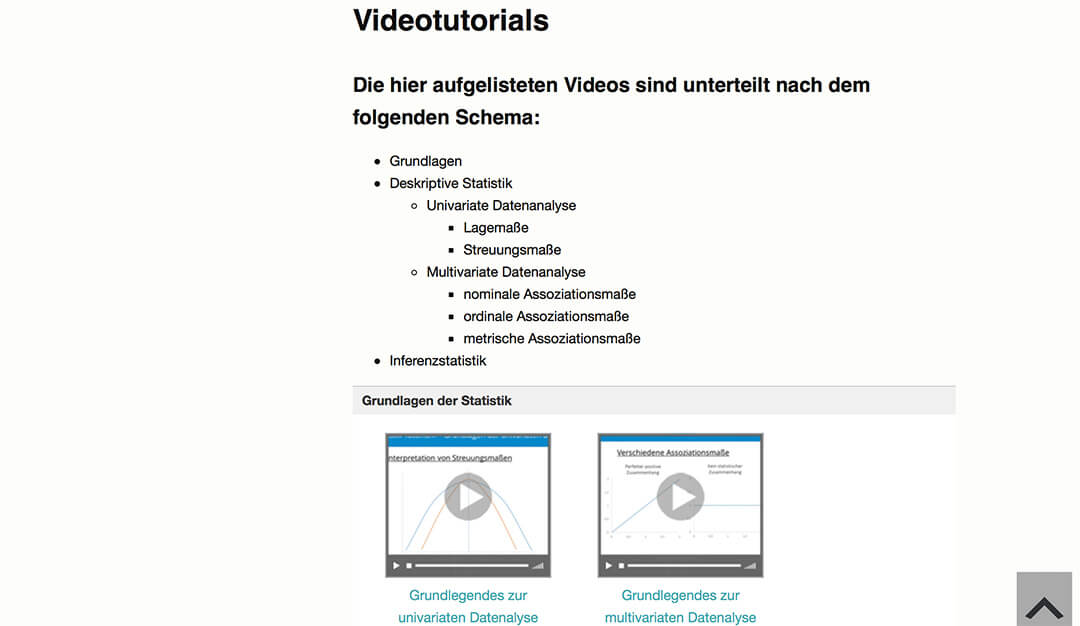 Videos zum Statistik Tutorium