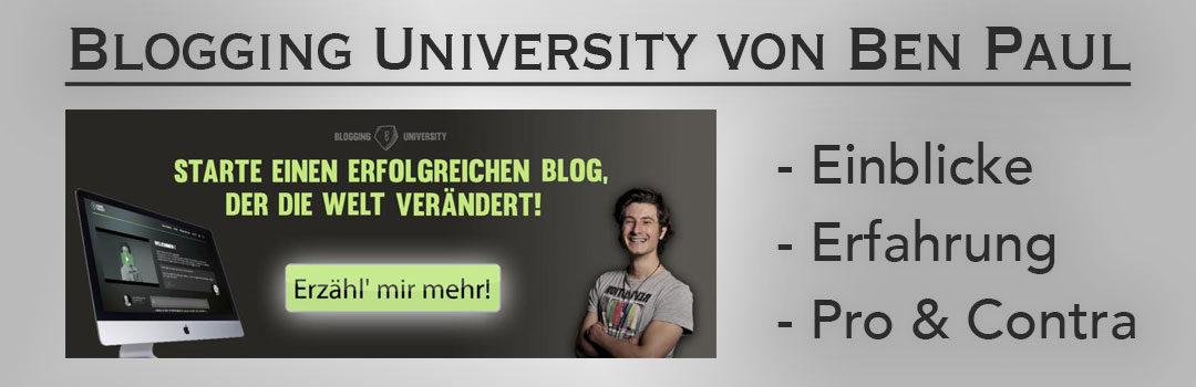 Test- und Erfahrungsbericht zur Blogging University von Ben Paul