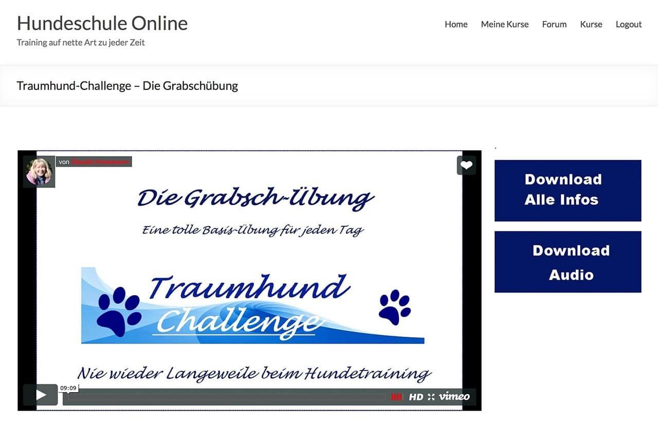 Mitgliederbereich der Traumhund Challenge von Claudia Hußmann