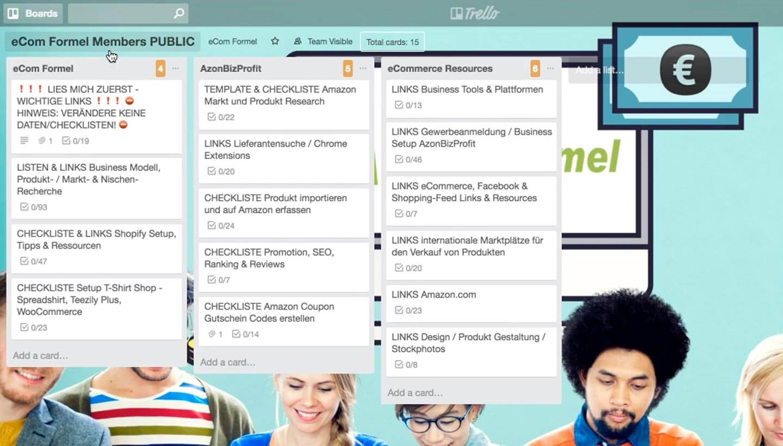 Trello Board mit Schritt für Schritt Checkliste zum Abhaken - Super das Teil