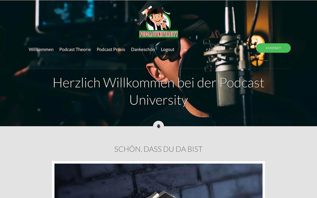 Mitgliederbereich der Podcast University von Timo Eckhardt und Sascha Boampong