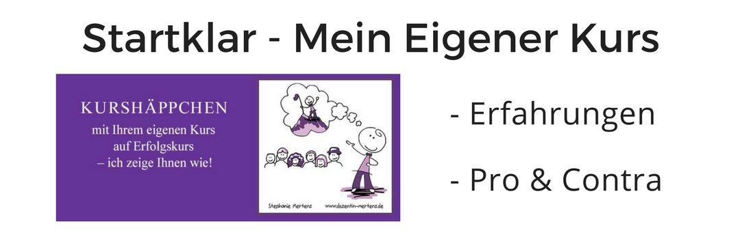 """Test- und Erfahrungsbericht zu """"Mein eigener Kurs"""" von Stephanie Mertens"""