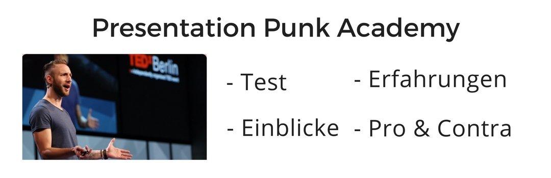 """Test- und Erfahrungsbericht zur """"Presentation Punk Academy"""" von Dominic Stühler"""