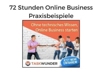 72 Stunden Online Business Praxisbeispiel von Jakob Hager