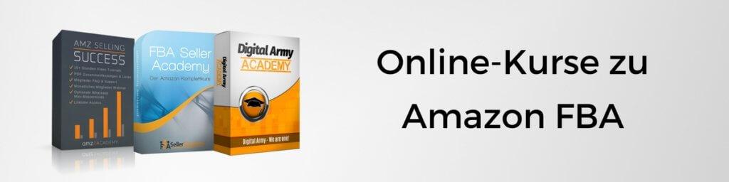 Übersicht und Vergleich zu Amazon FBA Onlinekursen