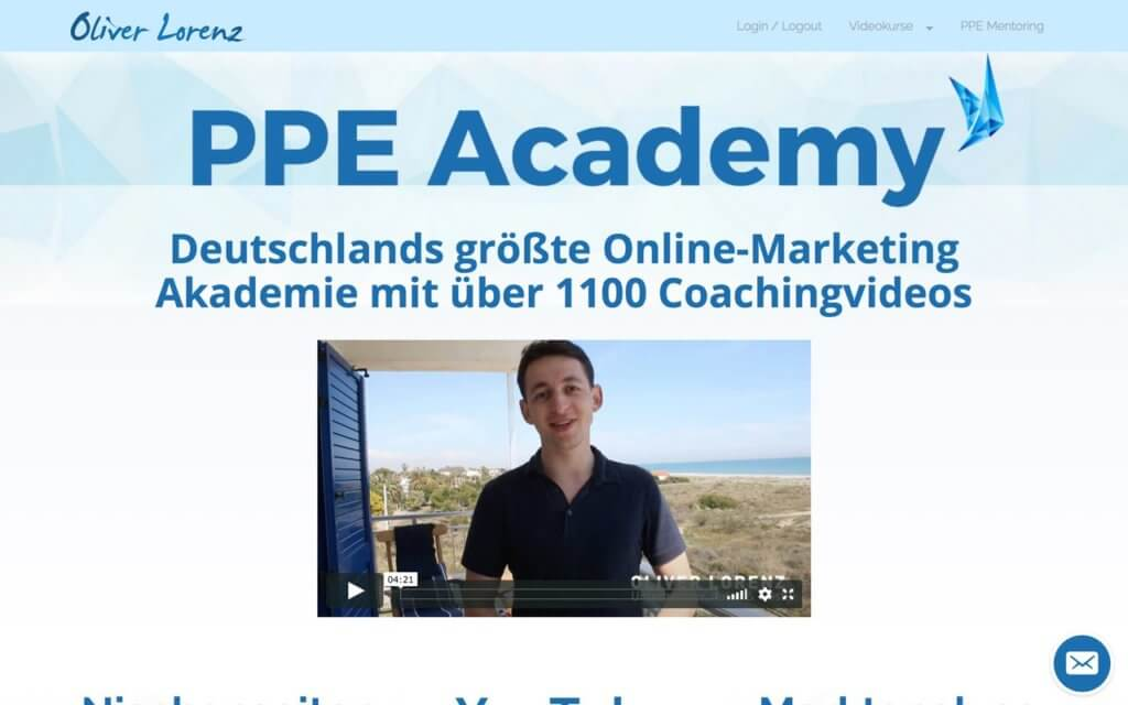 Test & Erfahrungen zur PPE Academy von Oliver Lorenz
