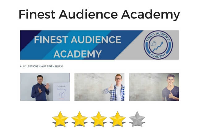 Review, Test & Erfahrungen Finest Audience Academy von Dawid