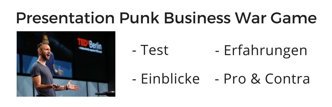 Erfahrungen und Review zum Presentation Punk Academy: Business War Game